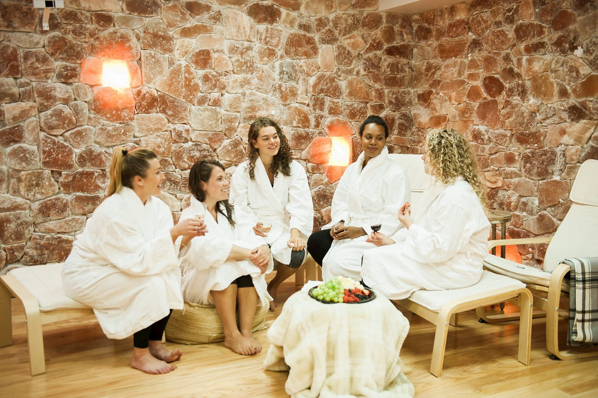 Women hanging out at a Spa in Charlottesville