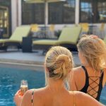 Hanging by the Pool at Oakhurst Inn
