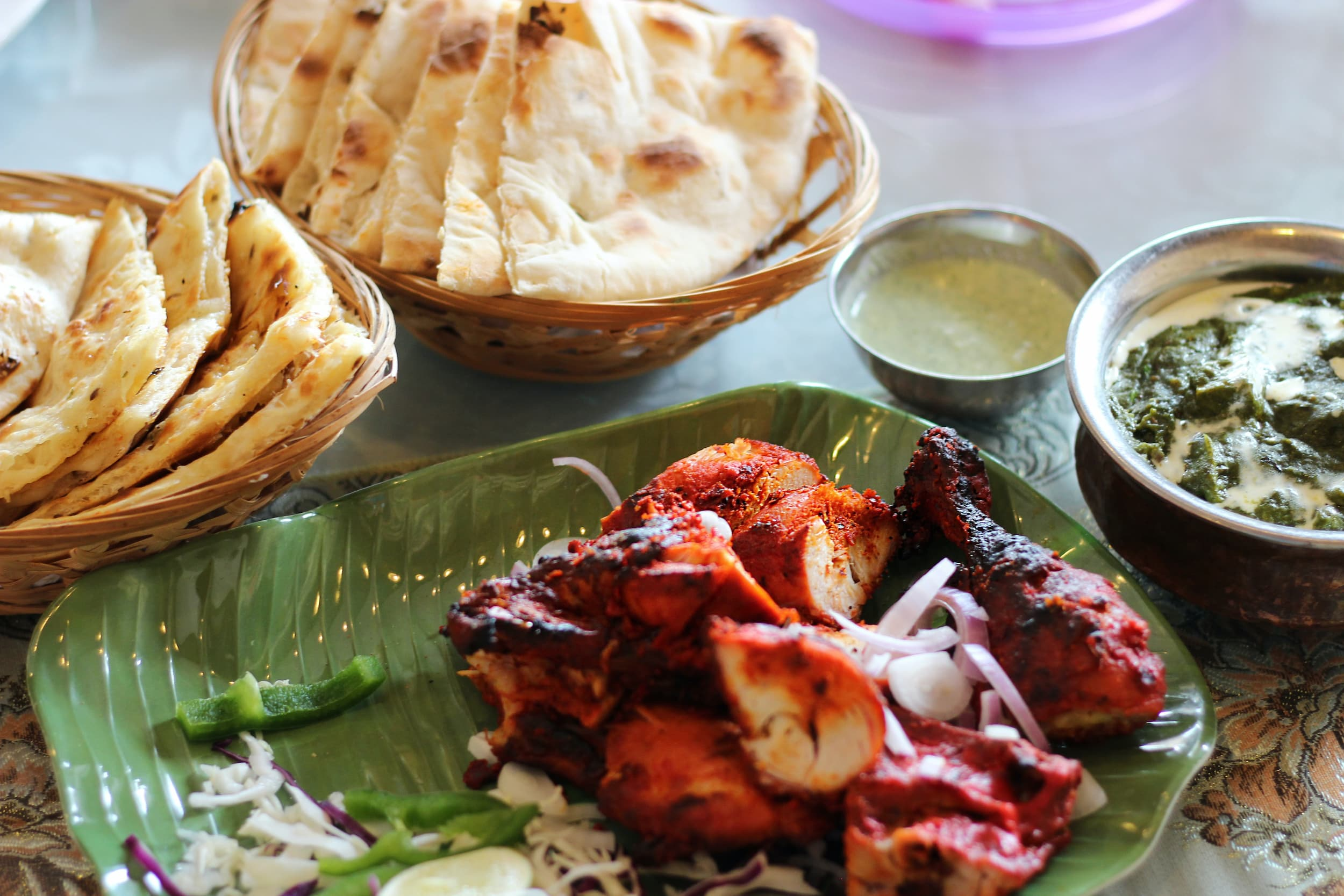 Naan and other food