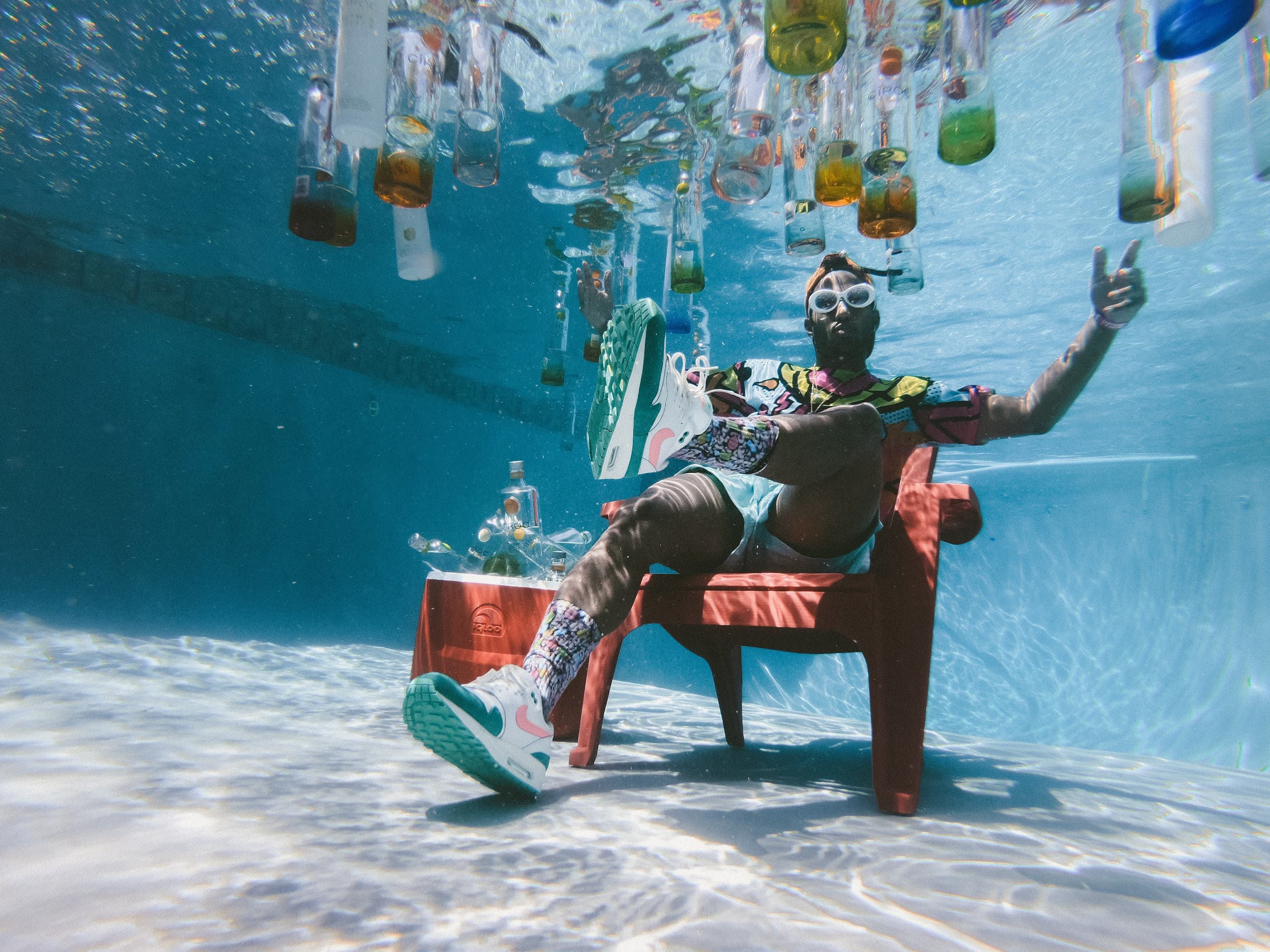 Man underwater