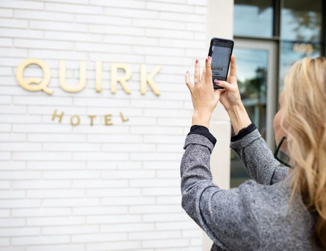 "Don't you just love finding those spots that are super ""instagramable"" without even trying? The Quirk Hotel is one of the most insta worthy spots in town. The esthetic is on point, every last detail is photo worthy. ✨ #charlottesvilleinsiderbekah #ciquirkcharlottesville"